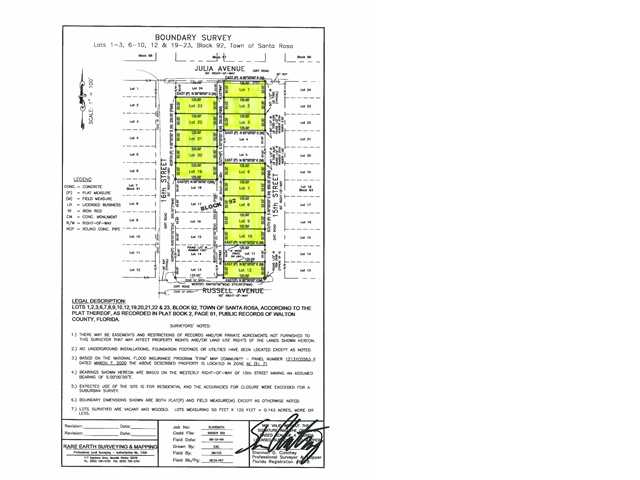 14 LOTS 15TH AND 16TH ST, SANTA ROSA BEACH, FL 32459 (MLS # 568855)