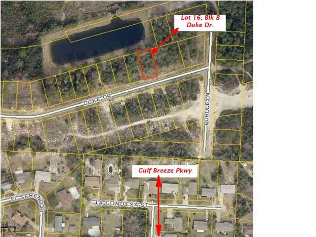 LOT16 BLKB DUKE DR, GULF BREEZE, FL 32563 (MLS # 608750)